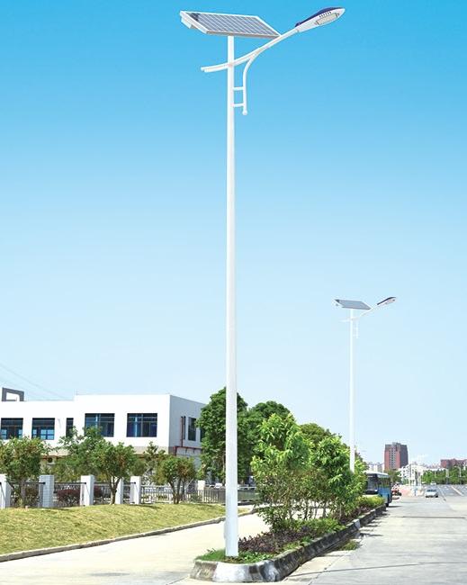 太阳能投光灯厂家商业街应用案例